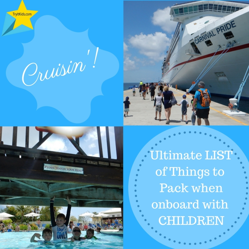 Things to take on a Cruise …….. with kids!:)