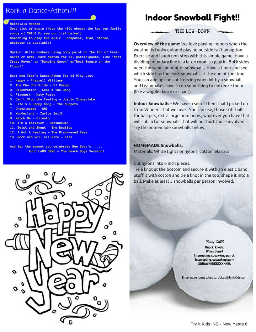 TIK New Years Lesson Plan